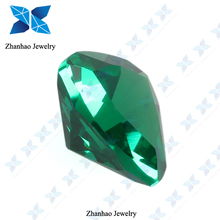 2014 Top Quality Fat Triangle Cut Green Synethtic Spinel Gemstone Price