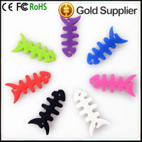 The cord headset bobbin cable holder winder Fishbone shape cable winders