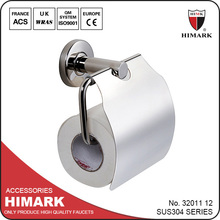 Contemporary paper holder stainless steel bathroom accessory