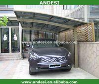car shed aluminum sun shelter canpoy