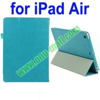 3 Folio Leather Cover for iPad Air Case with Wake-up and Sleep Function