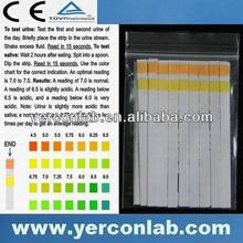 pH tester dry urine & saliva strip CE FDA ISO