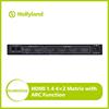 HDMI Matrix 4 in2 out 4x2 Switcher Splitter w/IR Remote Full 1080p 3D 4k*2k