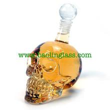 Skull Head Vodka Crystal botella <span class=keywords><strong>de</strong></span> <span class=keywords><strong>vidrio</strong></span> cráneo vacíos del fabricante <span class=keywords><strong>de</strong></span> china