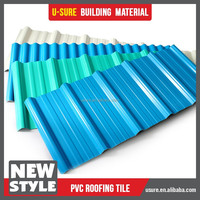 Low price thermal insulation waterproof material pvc roof tile