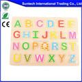 educativos de madera rompecabezas del alfabeto juguete