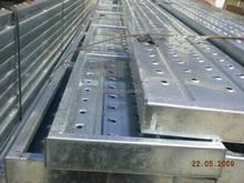 Hot Dipped Galvanized Anti-slip steel catwalk / scaffolding plank