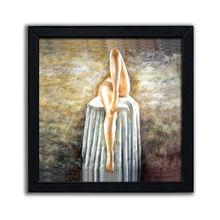 Custom beautiful nude girls vintage wooden plaque