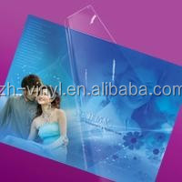 Transparent cold laminating film with adhesive