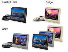 9inch Car DVD Headrest Player Monitor with 32Bit Games+USB+SD+IR/FM transmitter