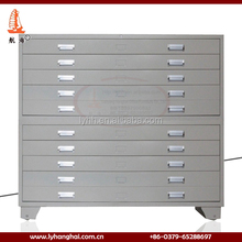 Grey steel plan office drawing cupboard metal drawing storage cabinet, metal storage cabinet locking, industrial storage cabinet