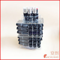 acrylic spinning lipstick tower 360 rotating