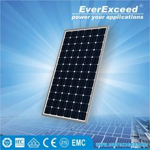 EverExceed 200w 156*156 Monocrystalline Solar Panel for solar street light system with intelligent controller