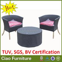 Latest design rattan coffe table set chair garden furniture
