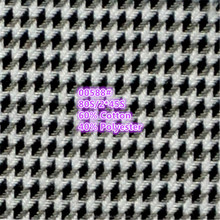 houndstooth woven design cotton fabric for men's shirt
