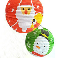 Snowman and Father Christmas paper accordion lanterns paper haning balls for Holiday party decor