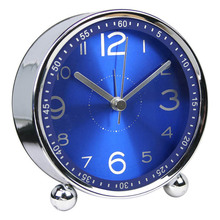 4 inch alarm clock in metal for gift & premium/desk clocks/guangzhou reetime industry