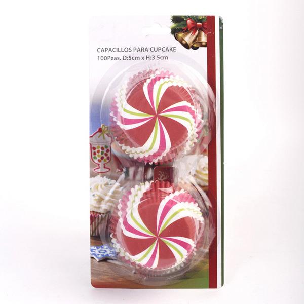 dia.5cm*3.5cm Christmas Paper Cake Cups