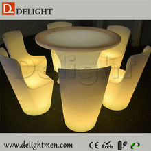Decoration outdoor ip65 glowing 16 color wireless control remote control led architecture table
