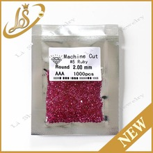 wholesale ruby loose gemstone wuzhou factory price ruby 2.0mm