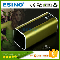 dual usb promotional power bank metal case with led flashlight