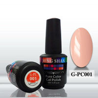 hot sale soak off color gel polish G-PC001 pure color uv gel for nail art nail painting