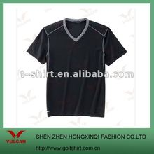 2012 Newest Blank Black V Neck T shirt