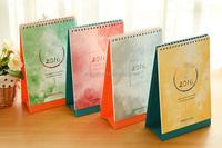 Folding spiral desk calendar