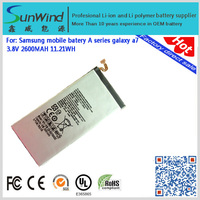for Samsung Galaxy A7 S4moblie phone laptop Best Quality 2600mah Full Capacity Lithium ion Replacement lithium battery