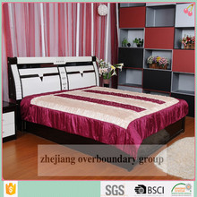 Top selling 100% polyester embroidery satin comforter set fashion bedding set
