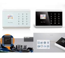 Android App alarm system,Russia language gsm alarm touch screen wireless intelligent burglar alarm system(KR-8218G)