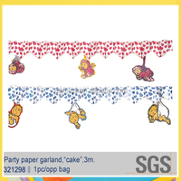 10 years exported popular tissue paper garland for kids