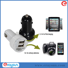 Car Charger Adaptor Bullet Dual USB 2 Port For iPod iPhone 5 6 6S Samsung