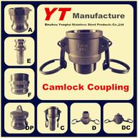 """floating hose camlock coupling, 1/2""""-6"""", A/B/C/D/E/F/DC/DP, OEM Manufacturer"""
