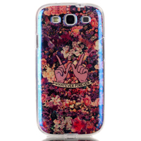 Stylish IMD Blue Light TPU Cell Phone Customed Case cover for samsung galaxy s3 i9300