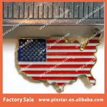 US FLAG GEOGRAPHICAL USA OUTLINE HAT LAPEL PIN MAP PATRIOT STARS & STRIPES GIFT