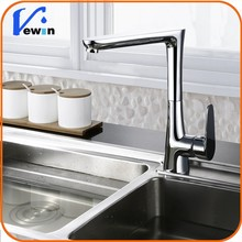 Rotatable Brass Chrome Plated Right Angle Single Handle Kitchen Faucet