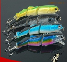 CHMN12-100-17 3 sections fishing minnow lure 100mm 17g 3D eyes Hard Lure refecting laser fishing lures
