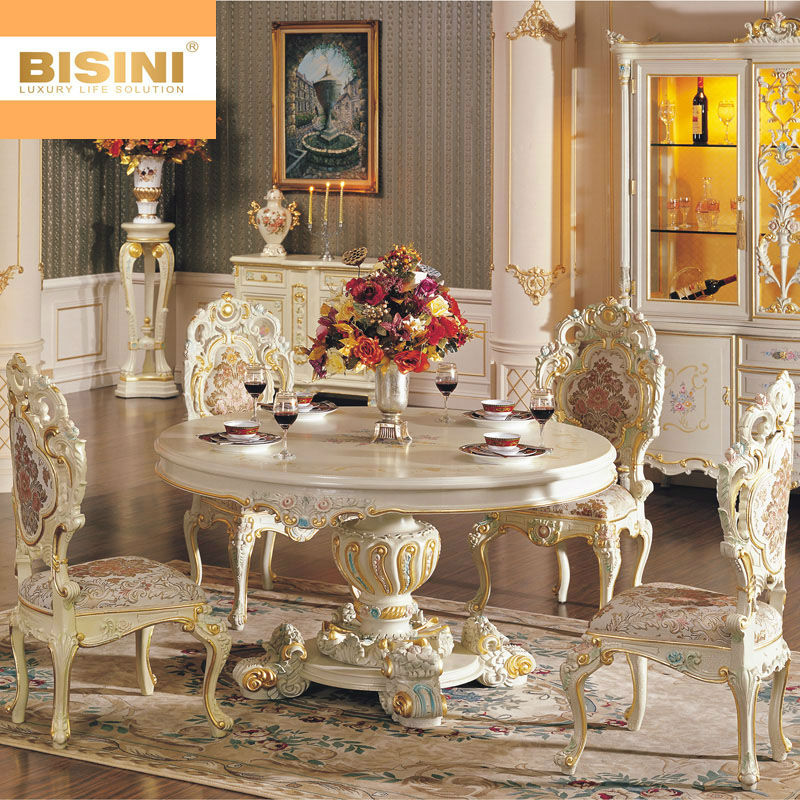 Bisini Rococo Style Round Dining Table Buy Wooden Round