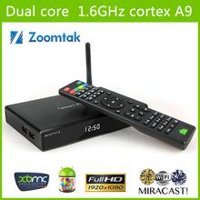 Aluminum Housing WIFI Stream Android XBMC TV Box Dual Core Aml8726 MX Smart TV Box Google TV Box