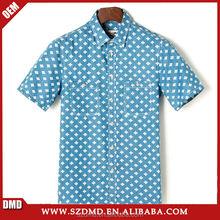 wholesale custom hot sale print shirt short sleeve man shirt