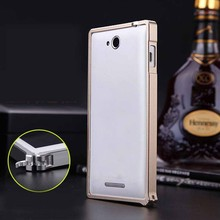 case for sony xperia c s39h c2305,metal bumper for sony xperia c s39h, case for sony xperia c case back cover