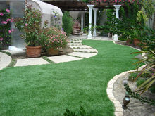 Thick Natural Green Landscaping Artificial Grass Lawn for Gardening Use