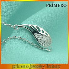 PRIMERO Fashion Crystal Pendant Angel Wings wings 925 sterling silver necklaces angel necklace 2014