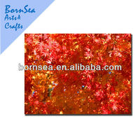 autum leaves scenery digital print photo stretched canvas hanging wall art