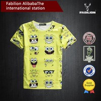 bright color all over sublimation printing t-shirt