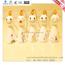 Led sorriso Sunny LED bonecas de cerâmica