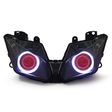 Motorcycle HID Projector Headlight Assembly with LED Angel Eye for Kawasaki Ninja 300 2013-2015