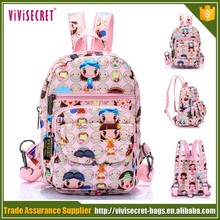 Wholesale little girl printed school bags for the young