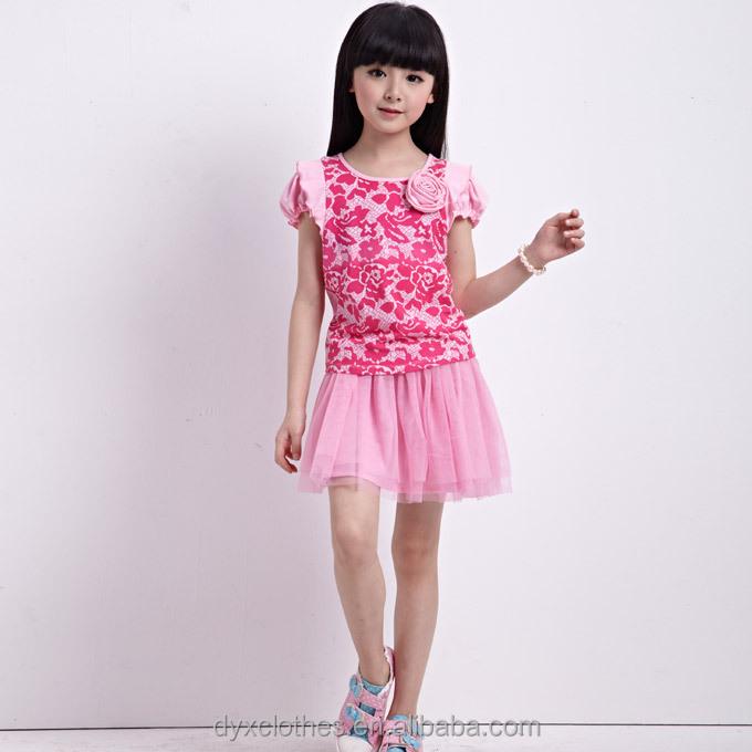 ... modelos de verano falda y blusa sets para las niñas 4-15 años edad
